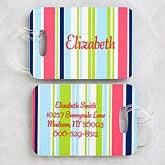 Personalized Luggage Tag Set - Stripes - 5648