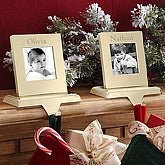 Personalized Picture Frame Christmas Stocking Holder - 5674