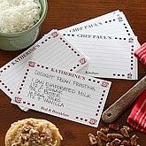 Chef's Custom Printed Recipe Cards - 5679