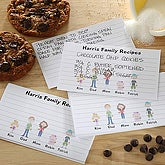 Family Character Personalized Recipe Cards - 5684
