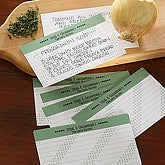 Chef's Favorite Recipies Personalized Recipe Cards - 3x5
