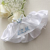 Personalized Satin Wedding Garter - 5693
