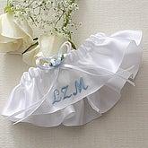 Personalized Satin Wedding Garter - 5693