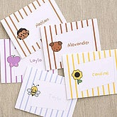 Kids Cartoon Graphic Personalized Note Card Set - 5738