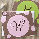 Personalized Note Card Stationery - In The Spotlight