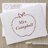 Personalized Apple Note Cards for Teachers - 5756