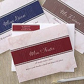 Personalized Teacher Note Card Stationery Set - 5759