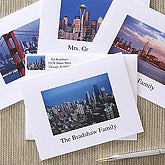 Cityscape Personalized Address Stamp with Skyline Design