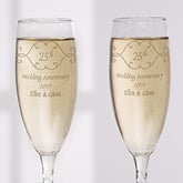 Personalized Anniversary Champagne Flutes - Set of 2 - 5769