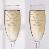 Anniversary Toast© Personalized Flute Set