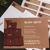 Custom Personalized Address Stamps - Moving Box