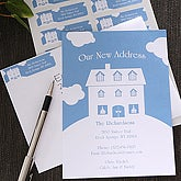 Moving On Personalized New Home Moving Announcement Cards