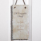 Personalized Family Wall Plaque - Live, Laugh, Love - 5798