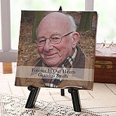Personalized Memorial Photo Canvas Art - Forever In Our Hearts - 5818