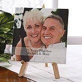 Personalized Wedding Anniversary Photo Canvas Art - 5826