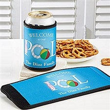 Swimming Pool Personalized Personalized Can Cooler - 5827