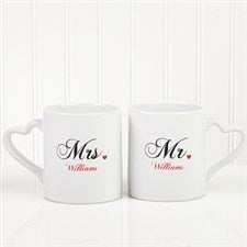 Romantic Husband and Wife Personalized Coffee Mugs - 5829