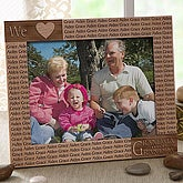 "Loving Hearts Engraved 8"" x 10"" Personalized Wood Frame - 5833"