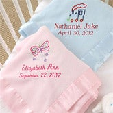 Personalized Baby Blankets for Girls - Pink Baby Love Design