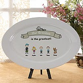 Greatest Grandma Personalized Keepsake Platter Plate - 5843
