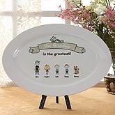 Greatest Grandma Personalized Keepsake Platter Plate - 5843
