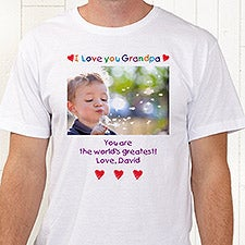4689f8b3 Loving Him Personalized Photo Apparel for Fathers & Grandfathers - 5844