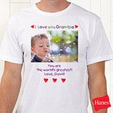 Loving Him Personalized Photo T-Shirt for Fathers & Grandfathers