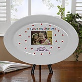 Personalized Porcelain Keepsake Photo Platter - Loving You - 5846