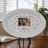 Personalized Porcelain Keepsake Photo Platter - Loving You - 5846