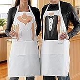 Mr. & Mrs. Personalized Wedding Apron Set - 5868
