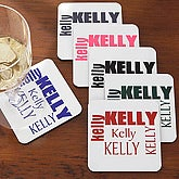 Custom Name Personalized Drink Coasters - 5874