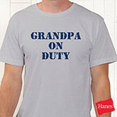 On Duty Personalized Coffee Mug for Parents, Grandparents & More