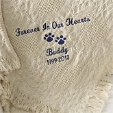 Personalized Pet Memorial Afghan Blankets - 5905