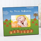 Personalized Baby's First Halloween Picture Frame - 5909