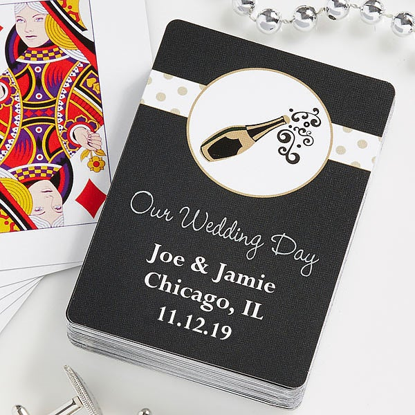 Personalized Wedding Favor Playing Cards