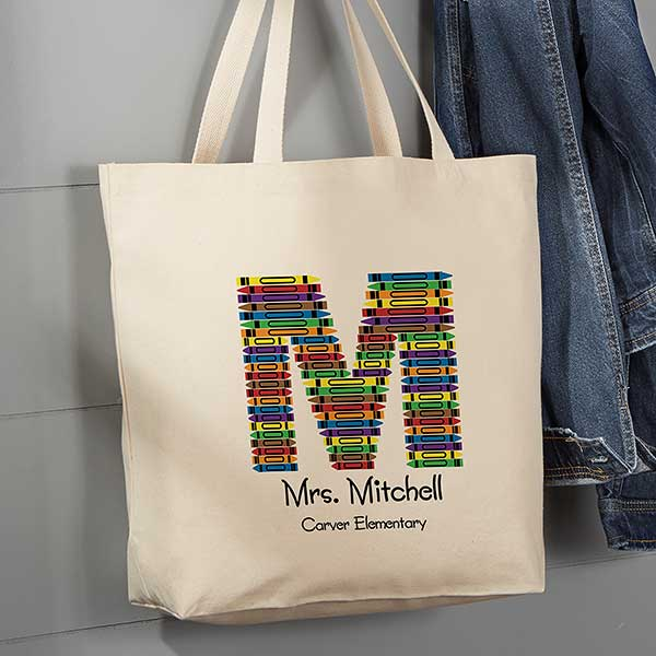 Teacher Canvas Tote Bag