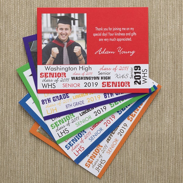 Personalized Graduation Photo Thank You Cards - 10143