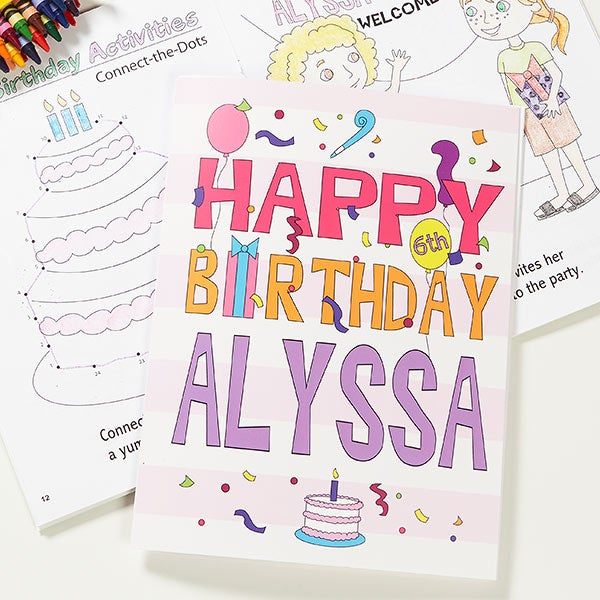 Personalized Birthday Coloring Books