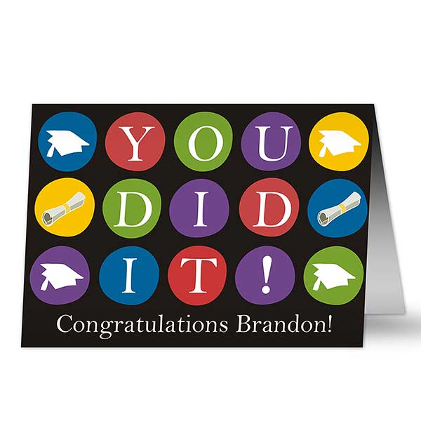 Personalized Graduation Cards - You Did It - 10166