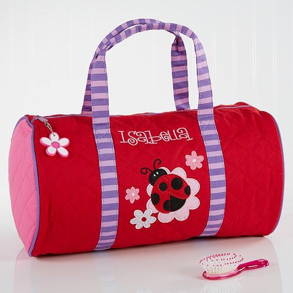 08657c13d7a7 Personalized Girls Duffel Bags - Ladybug - 10221