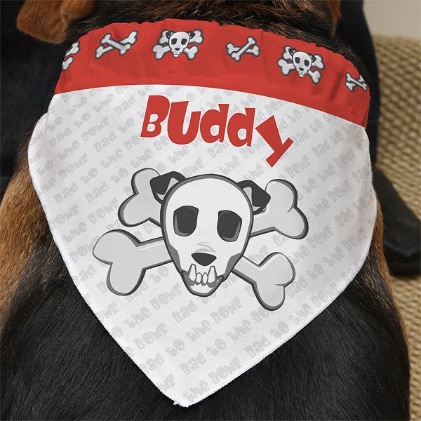 Personalized Dog Bandanas - Bad To The Bone - 10231