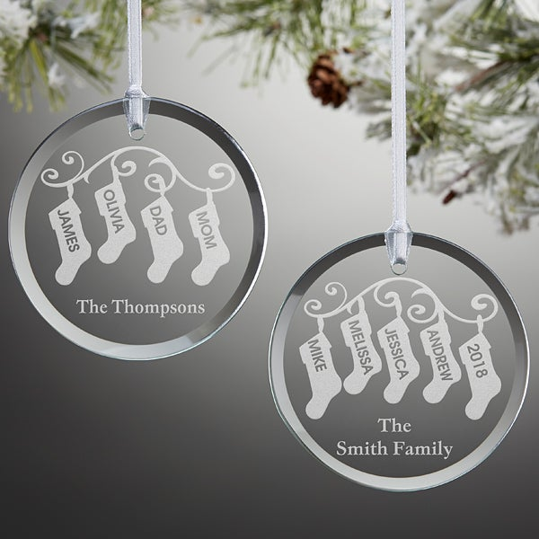 Personalized Ornaments - Family Christmas Stockings - 10238 - Personalized Ornaments - Family Christmas Stockings