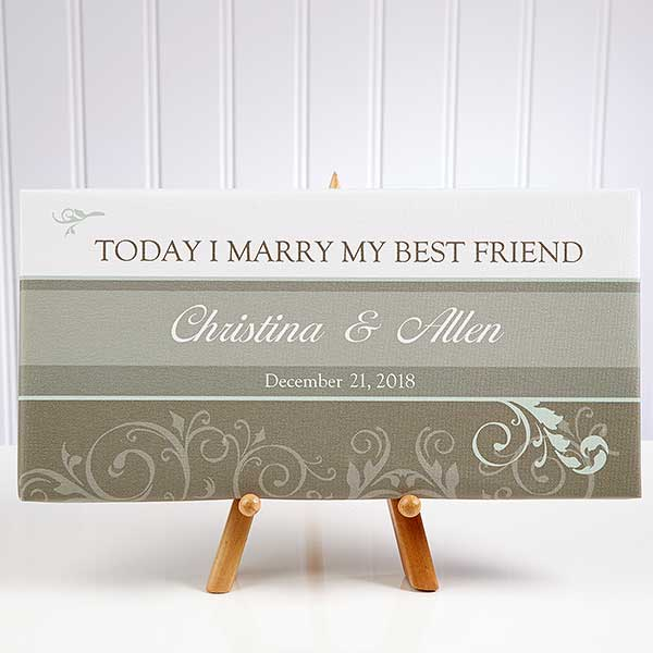 Personalized Wedding Canvas Art Today I Marry My Best Friend 10247