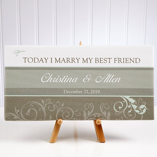 Personalized Wedding Canvas Art - Today I Marry My Best Friend - 10247