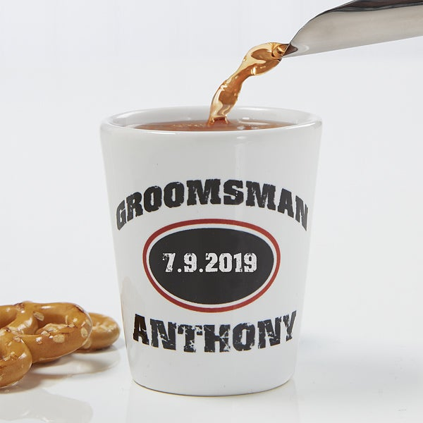 Personalized Groomsmen Gifts - Shot Glass - 10307