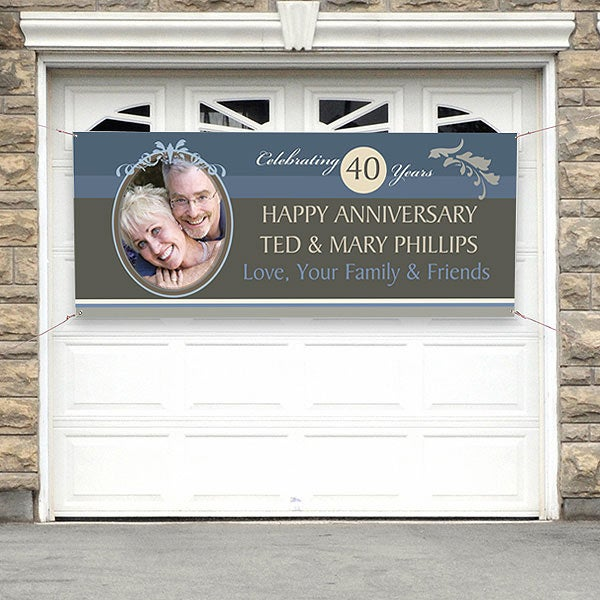 Personalized Anniversary Party Banner with Photo - 10308