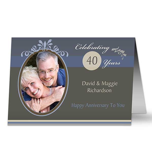 Personalized Anniversary Greeting Cards - Happy Anniversary - 10335