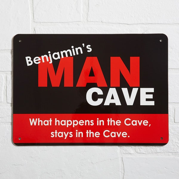 Large Personalized Man Cave Signs : Man cave personalized street sign