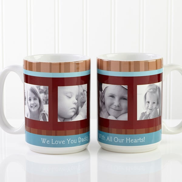 Personalized Photo Coffee Mugs for Men - Photo Message - 10381