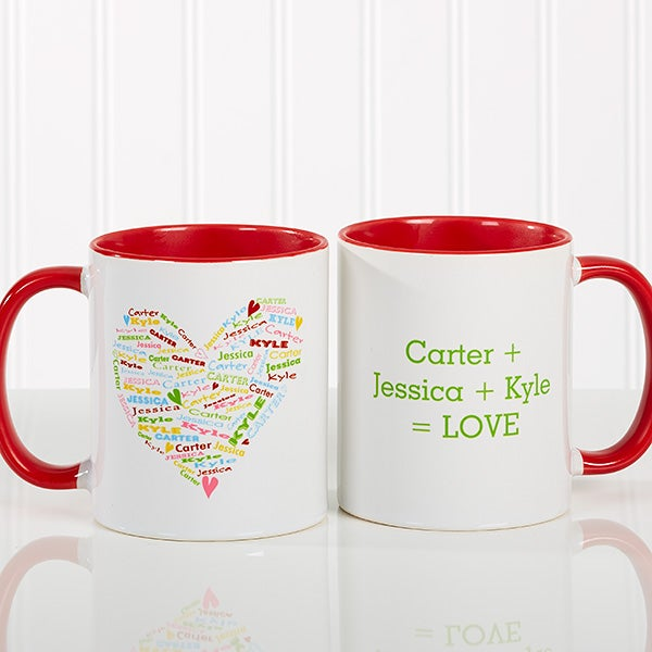 Personalized Coffee Mugs for Mothers - Heart of Love - 10430
